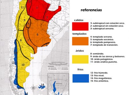 A causa dell'ampiezza nella latitudine e nei rilievi, l'Argentina è soggetta a una grande varietà di climi.