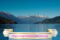 Lago Puelo splendido specchio di acqua verde bluastra che dà il nome all'area protetta.